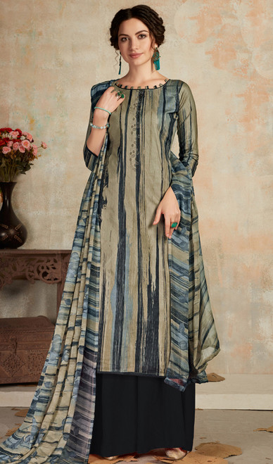 Cambric Cotton Indian Printed Multicolor Palazzo Suit