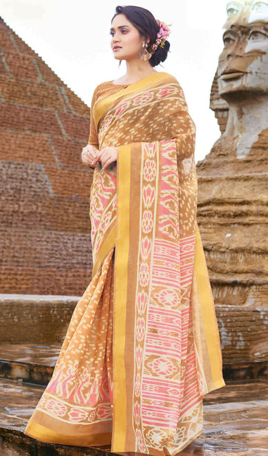 Multicolor Printed Cotton Saree