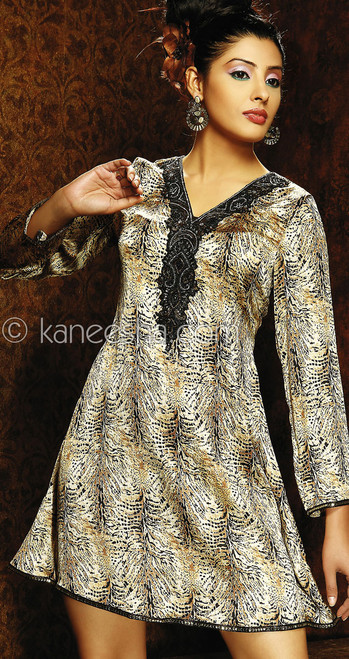 Printed Embellished Georgette Tunic Top
