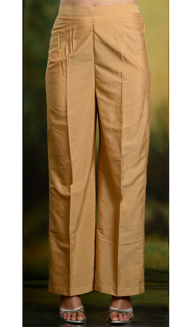 Silk Straight Pants Trouser