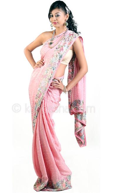Unique Pink Parasi Gara Sari