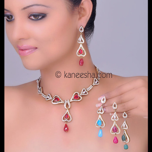 Gold Plated Cubic Zircon Necklace Set