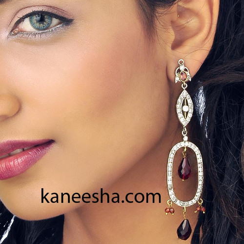 Victorian Style Contemporary Earrings Studded With Cubic Zircon-60% price reduction
