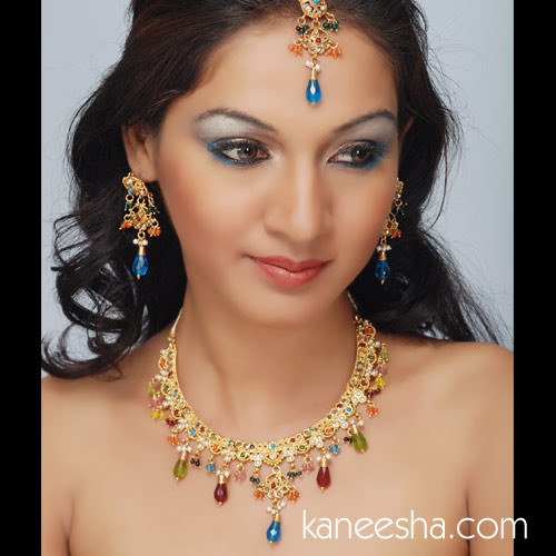 Goldplated Choker Style Necklace Set - 40% price reduction