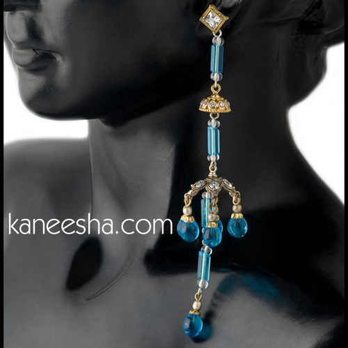 Turquoise Dome Style Long Earrings-60% price reduction
