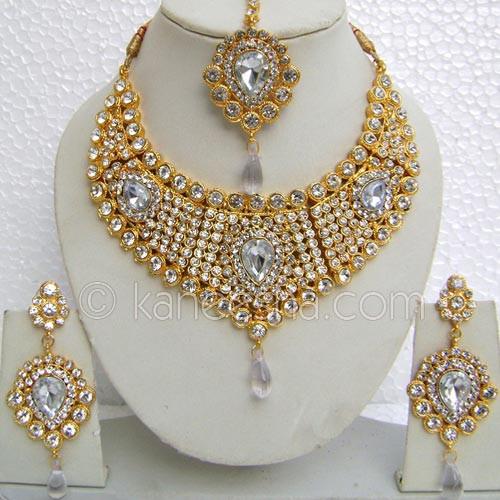 Gold Plated Unique Designer Indian Necklace