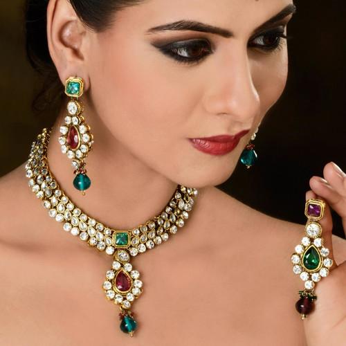 American Diamond Studded Necklace