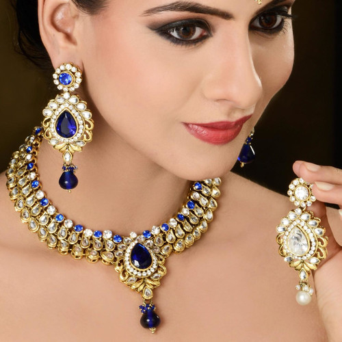 White Color Diamond Studded Necklace
