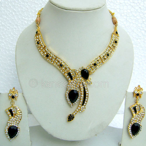 Gold Plated CZ Necklace Set