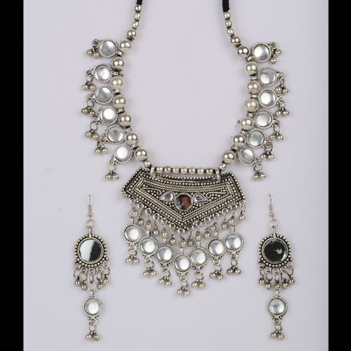 Stunning Oxidized Silver Necklace Set