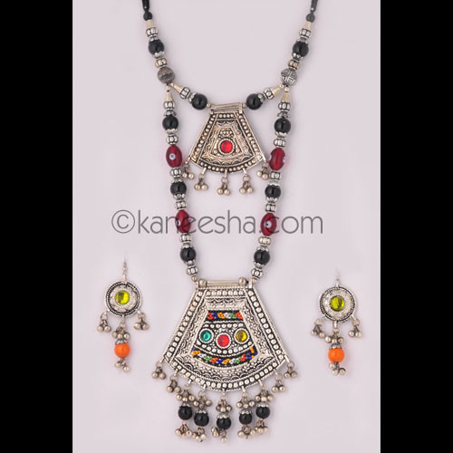 Attractive Oxidized Silver Necklace Set