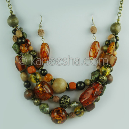 Multi-row Beaded Fashion Necklace
