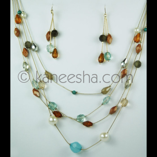 Multi Strand Resin Illusion Necklace