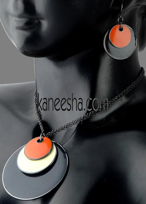 Hematite Disk Jewelry Necklace