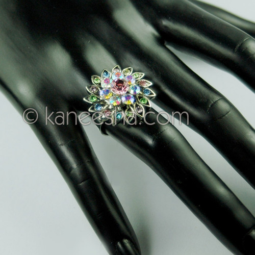 Stylish Silver Multicolor Fashion Ring