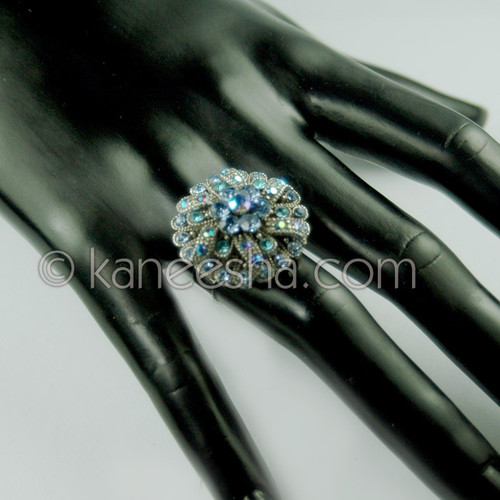 Turquoise Silver Fashion Ring