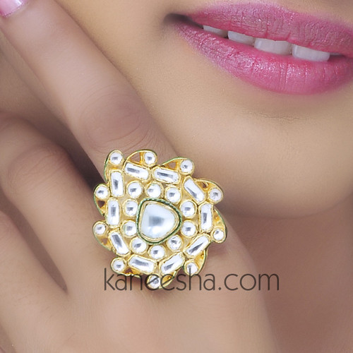 Indian Kundan Ring