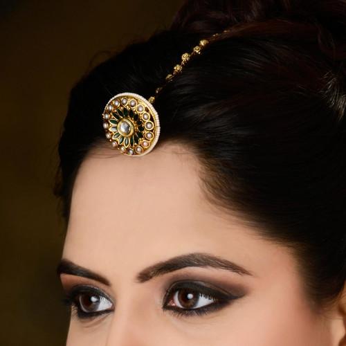 Indian Rajasthani Gold Plated Tikka