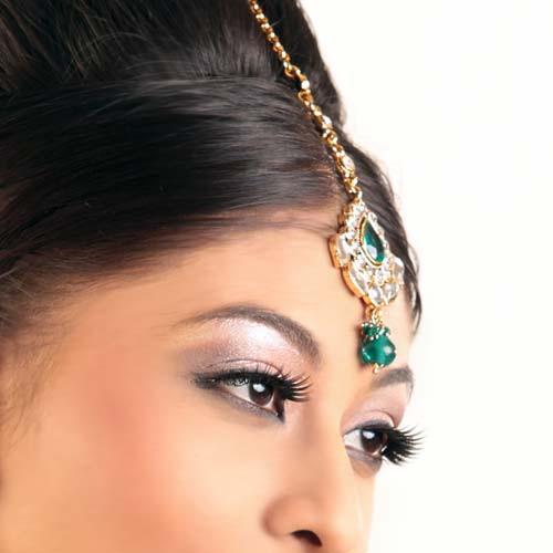 Traditional Gold Plated Kundan Headpiece Tikka