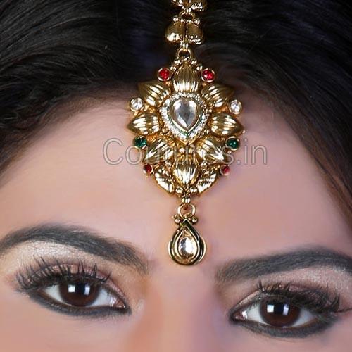 Gold Plated Wedding Headpiece Tikka