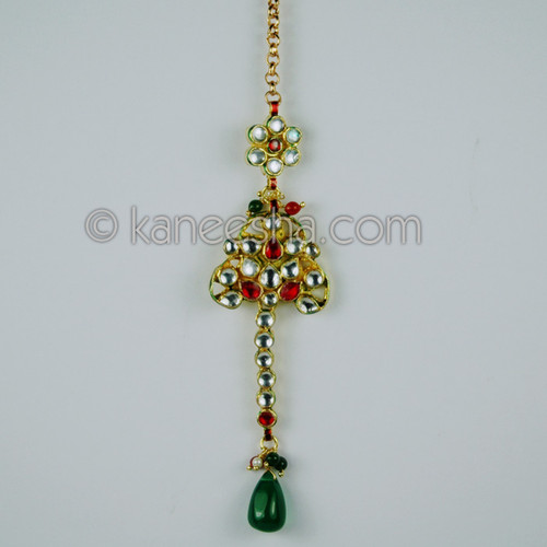 Goldplated Kundan Headpiece Mang Tikka