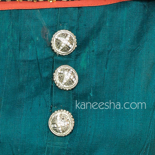 Silver Tone Kurta Button