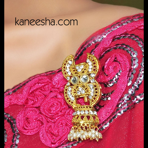 Gold Plated Sari Pin