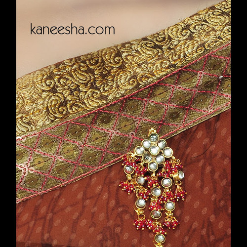 Traditional Kundan Sari Pin