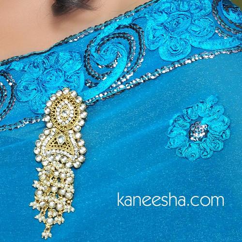 Faux Pearl Gold Plated Sari Pin