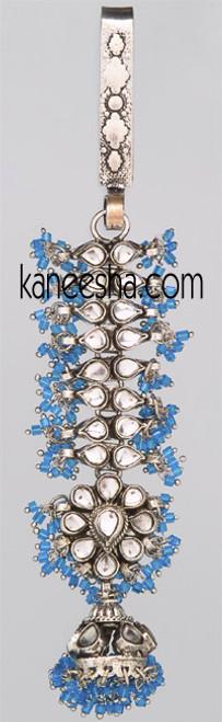 Turquoise Rhodium Polish Keychain