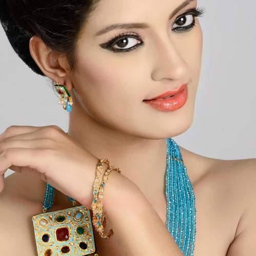 Gold Plated Polki Women's Bangle Jewelry