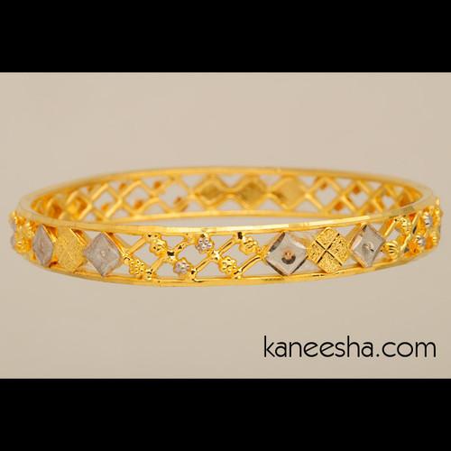 Traditional Gold Plated Bangle Bracelet