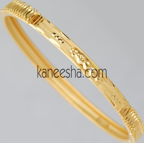 Carved Traditional Goldplated Bangle