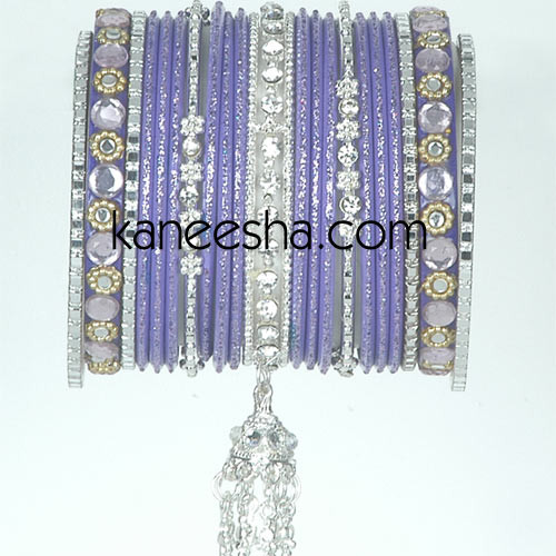 Purple/Silver Traditional Fashion Bangles