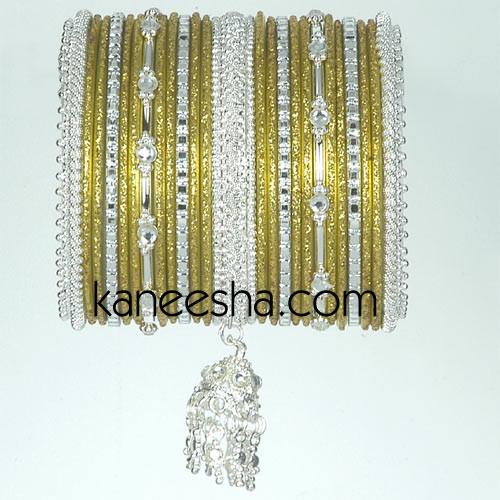 Gold/Silver Indian Fashion Bangles