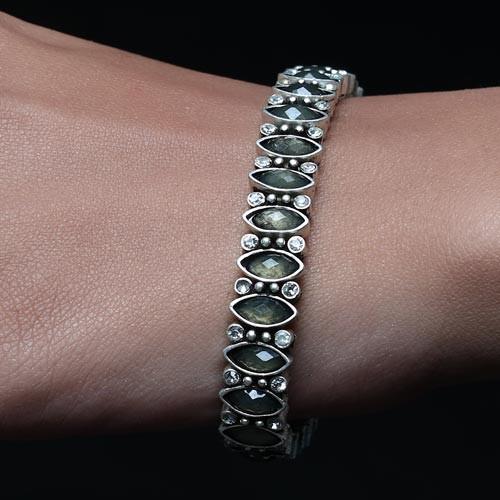 Grey Stone Studded Bracelet