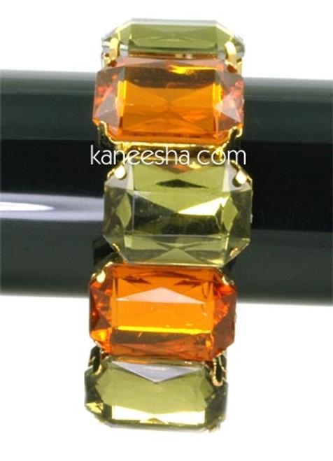 Olive Green/Rust Stretch Fashion Bracelet - 30% price reduction