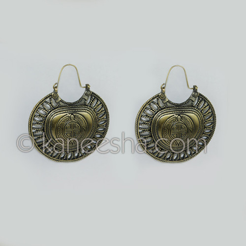Brass Modern Art Earrings