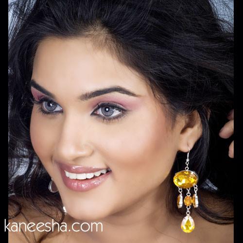 Yellow Hanging Fashion Earrings
