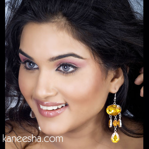 Yellow Hanging Fashion Earrings