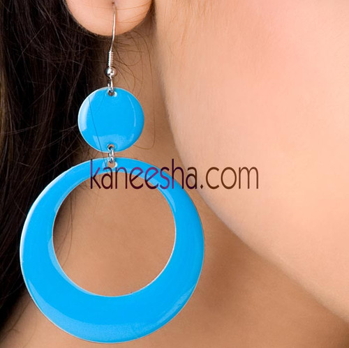 Turquoise Disc Earrings