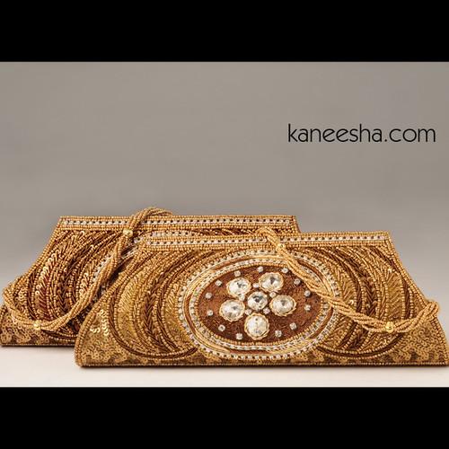 Maroon Silk Embroidered Handbag