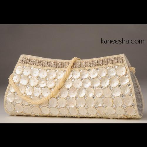 White Silk Handbag