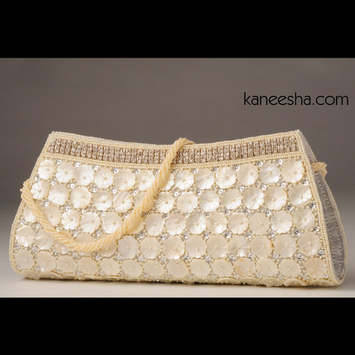 White Silk Handbag
