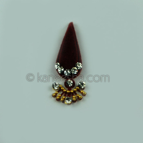 Traditional Bridal Jeweled Deep Red Bindi