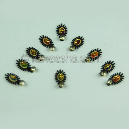 Bindis Bridal Multi Color  (Dots)