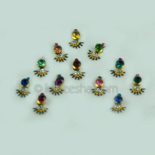 Fancy Bindis Bridal Multi Color  (Dots)
