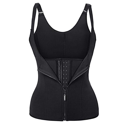 Black Waist Trainer Clip & Zip Double Layer Neoprene Body Shaper Waist Cincher Lumbar Support FREE Shipping.