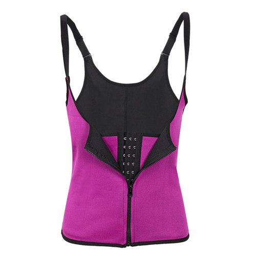 Hot Pink Waist Trainer Clip & Zip Double Layer Neoprene Body Shaper Waist Cincher Lumbar Support FREE Shipping.