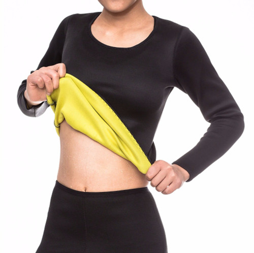 Full Sleeve Neoprene Waist Trainer for Women Body Shaper for Sauna Gym Workout Sweat FREE Shipping (Black/Neon Yellow)